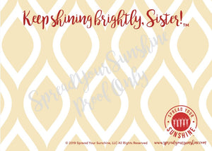 "Cardinal & Straw ""Sister"" Collection Individual Stationery Card"