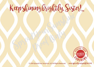 "Cardinal & Straw ""Sister"" Collection #ShineItForward 8-Pack Stationery Set"