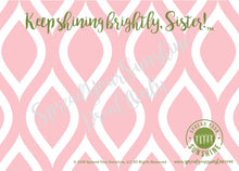 "Load image into Gallery viewer, Rose Pink & Green ""Sister Collection Individual Stationery Card"