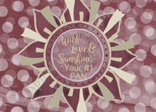 "Load image into Gallery viewer, Garnet & Gold ""Sunshine"" Collection #ShineItForward 8-Pack Stationery Set"