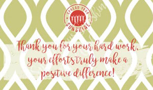 "Scarlet Red & Olive Green ""Sister"" Collection Positivity Cards"