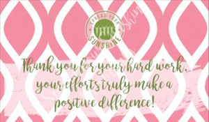 "Rose Pink & Green ""Sister"" Collection Positivity Cards"
