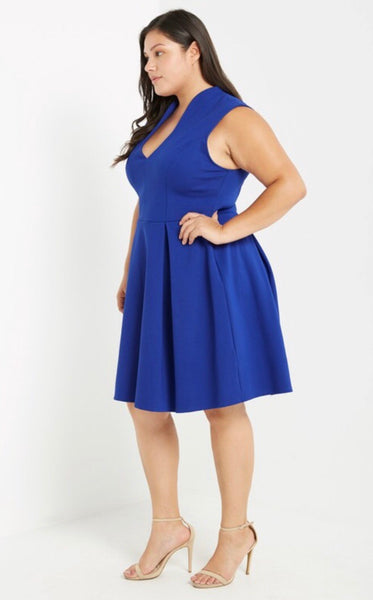 Blue Wave Flare & Fit Dress