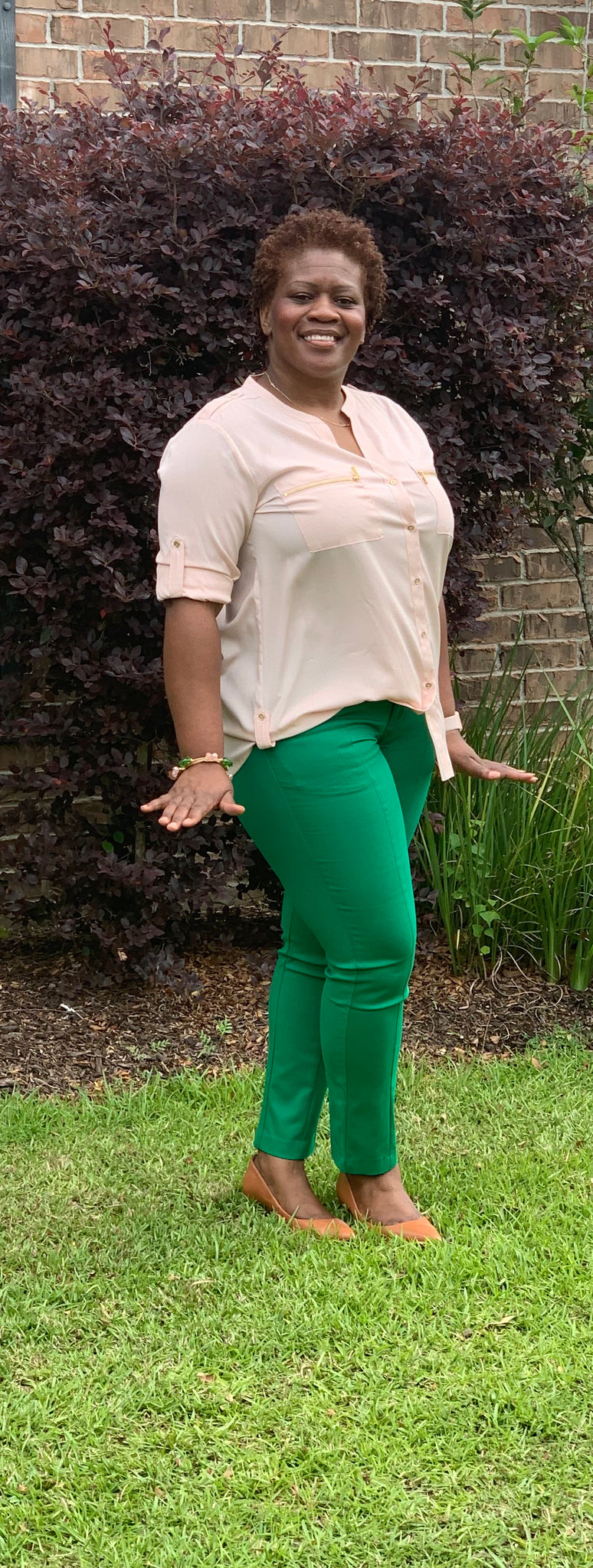 Pink & Green Comfort Fit Pants