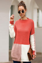 Load image into Gallery viewer, MULTI COLOR BLOCK RELAXED SWEATER