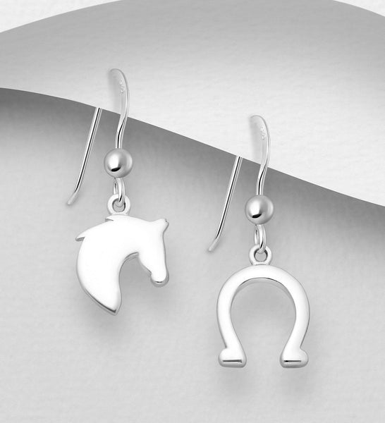 HORSE & HORSESHOE EARRINGS