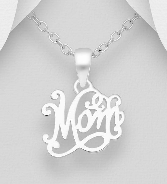MOM STERLING SILVER PENDANT