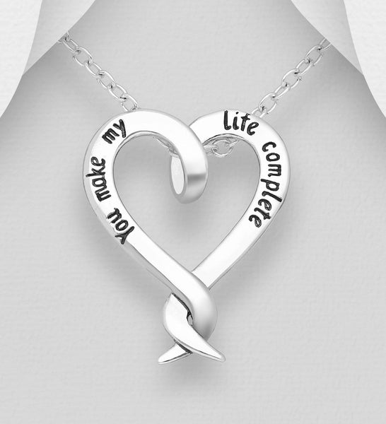 YOU MAKE MY LIFE COMPLETE PENDANT