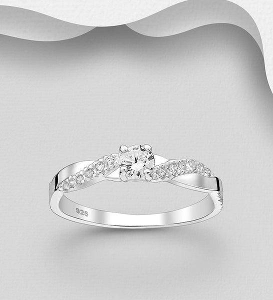 CZ & STERLING SILVER RING