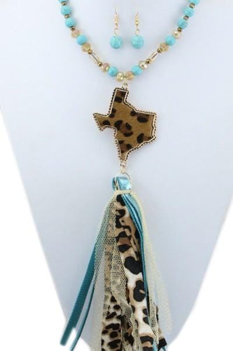 TEXAS NECKLACE WITH MATCHING EARRINGS