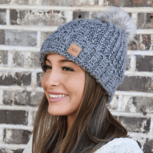 BLACK AND GRAY BEANIE