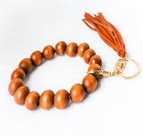WOODEN BEAD KEY CHAIN