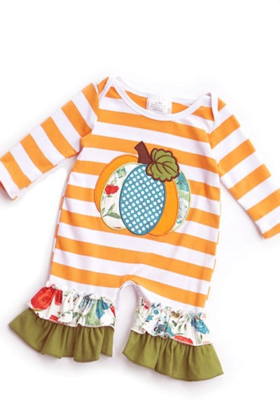 PUMPKIN ROMPER(0/3M to 12/18M)