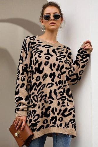 LEOPARD PRINT OVERSIZED SWEATER (3 colors)