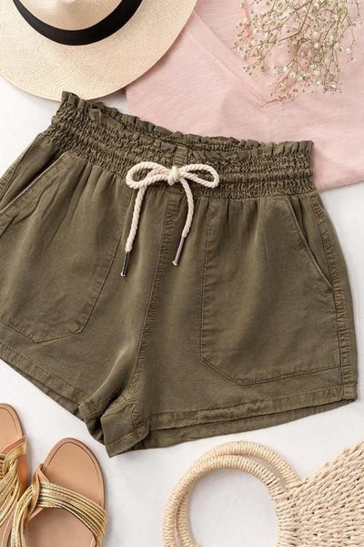 ROPE DRAWSTRING SHORTS