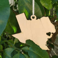 TEXAS WOODEN ORNAMENT