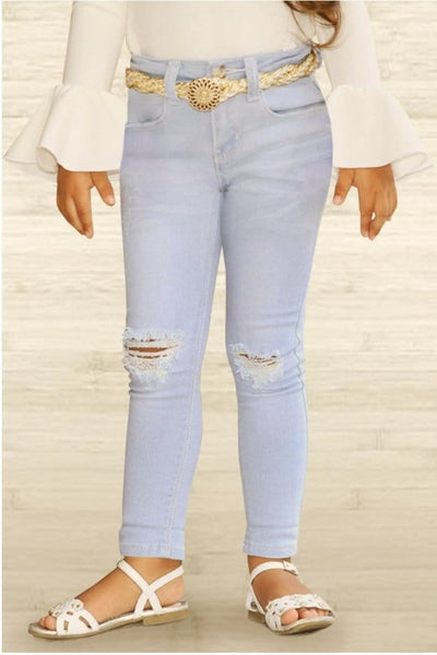DISTRESSED ICE JEANS