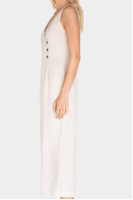 WHITE SAND JUMPSUIT