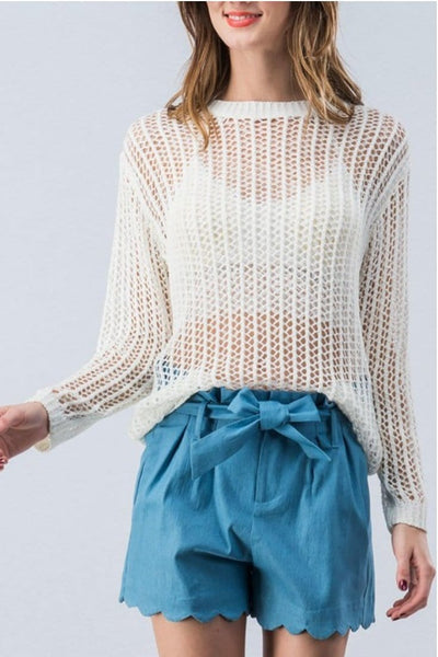 FISHNET SWEATER
