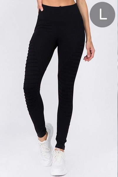 ACTIVE HIGH RISE MOTO LEGGINGS