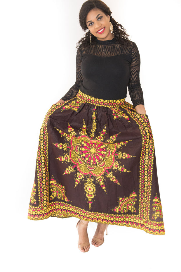 The Sandra African Skirt - Moh B. Couture