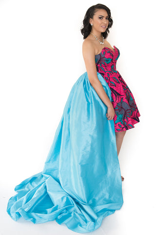 The Amare Strapless Evening African Dress - Moh B. Couture