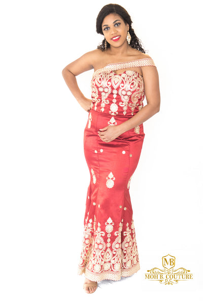 The Daliah Sleeveless Evening Dress - Moh B. Couture