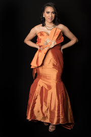 The Imani Strapless Evening Dress - Moh B. Couture
