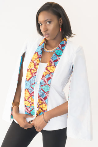 The Tiwa African Cape Blazer - Moh B. Couture