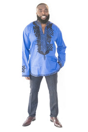 The Dan African Embroidered Men Tunic - Moh B. Couture