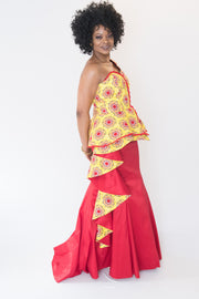 The Maha Peplum African Dress - Moh B. Couture