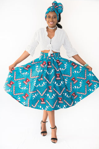 The Fatou African Midi Skirt - Moh B. Couture