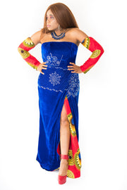 The Candy Strapless High-Slit Evening Dress - Moh B. Couture