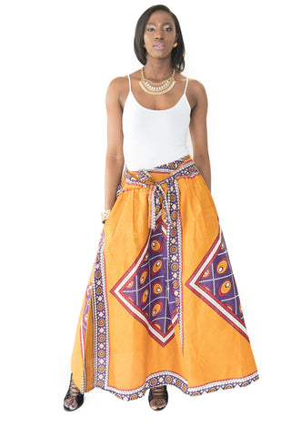 The Grace African Maxi Skirt - Moh B. Couture