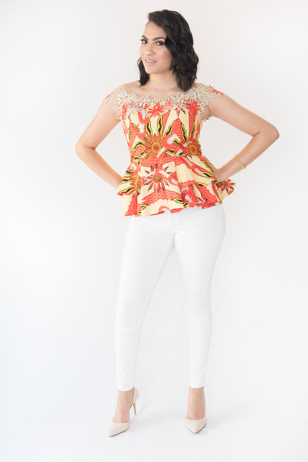The Feechi African Top - Moh B. Couture