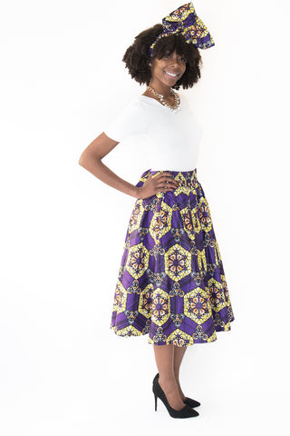The Christina African Midi Skirt - Moh B. Couture