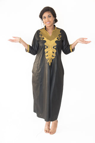The Kalifa Embroidered African Dress - Moh B. Couture