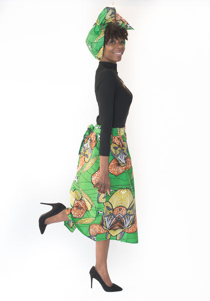 The Julian African Midi Skirt - Moh B. Couture