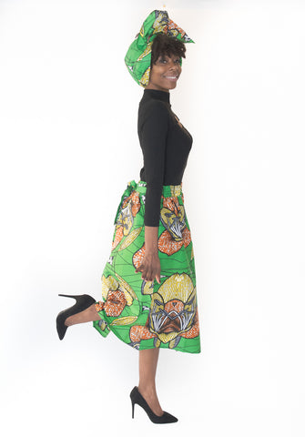 The Julian African Midi Skirt