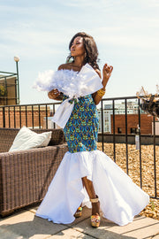 THE African Print SHARY GOWN - Moh B. Couture