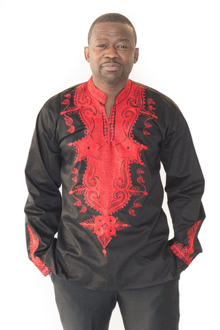 The Sheriff African Embroidered Men Tunic - Moh B. Couture