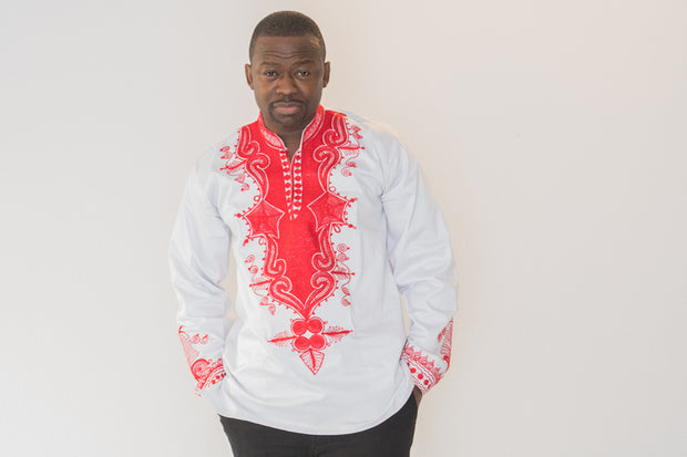 The David African Embroidered Men Tunic - Moh B. Couture