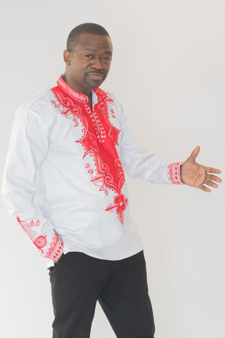 The David African Embroidered Men Tunic