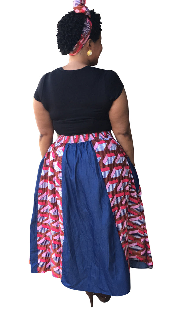 The Trevy African Maxi Skirt - Moh B. Couture