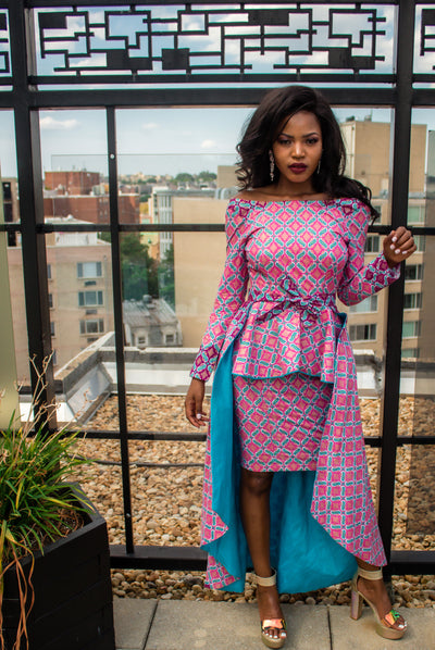 THE African Print ATIMA DRESS - Moh B. Couture