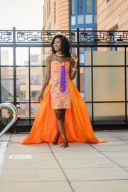 THE African Print BANTU DRESS - Moh B. Couture