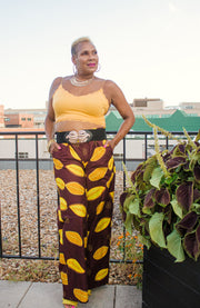 The African Print Savanah Pants - Moh B. Couture