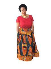 The Princess African Print Maxi Skirt - Moh B. Couture