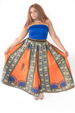 The Joy African Maxi Skirt