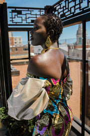 THE African Print SHEBA DRESS - Moh B. Couture